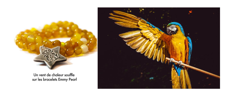 bracelet so amber - perles d'agate