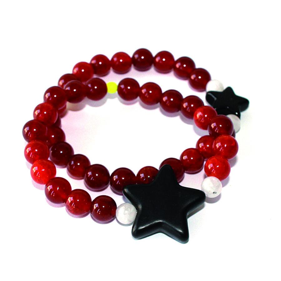 bracelet duo Sirah perles naturelles semi-précieuse