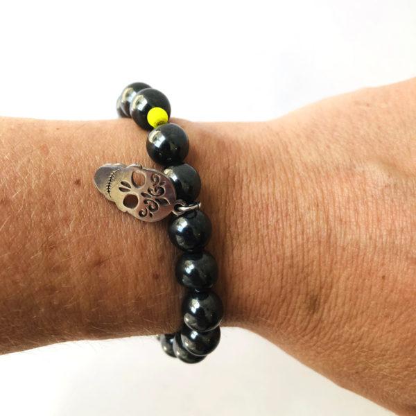 bracelet hématite MAGNÉTIQUE bras